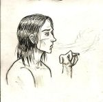 Avery smoking sketch by Saroda