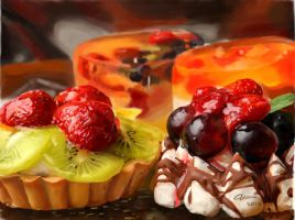 Fruit painting. Colourful fruit dessert! by Eun-Fantasy