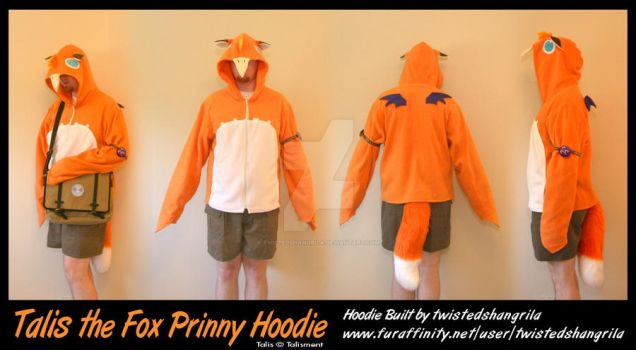 Talis the Fox Prinny - Hoodie Commission by TwistedShangrila
