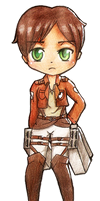 Eren Jeager chibi by Mittsune