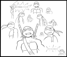 Tmnt Expression Practice by SecretOfTheRings