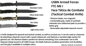 USBN Tactical Combat Knife, Mk I by caiobrazil