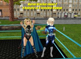 Valkyrie vs Invisible Woman by Mary-Margret