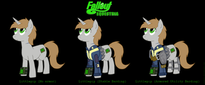 Littlepip armor designs by Sheason