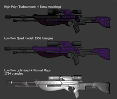 Mass Effect Sniper Rifle WIP 2 by YaVaho155