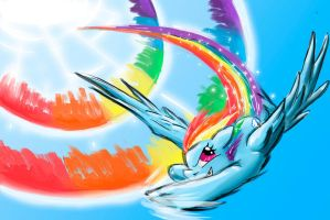 Sonic Rainboom by DrizztHunter
