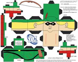 LDC3: Golden Age Green Arrow Cubee by TheFlyingDachshund