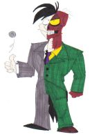 Same Two Faces One Different Suit by SpiketheKlown