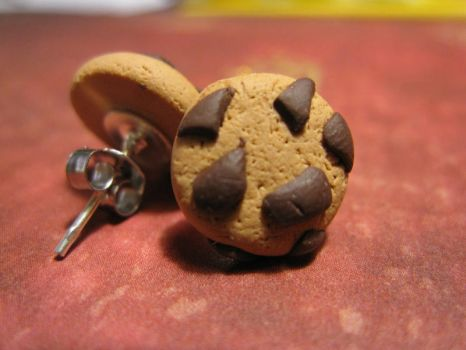 Chocolate Chip Cookie Studs by maytel
