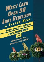 Show Flyer-Writz Lang, Opus 99, Lost Rebellion by Stixwitdafix