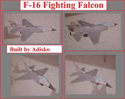 F-16 Fighting Falcon Papercraft by Adisko