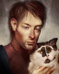 Thom Yorke loves Kitteh by JenPenJen