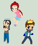 Anime Adventure Time Persona Chibis by JordantheDNAhog15