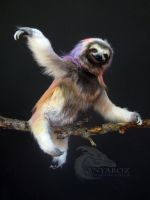 rainbow Sloth Room Guardian (FOR AUCTION) by AnyaBoz