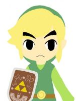 Toon Link on Colors! 3d! by professortriton
