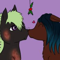 Nose kiss by Silver-she-wolf-14