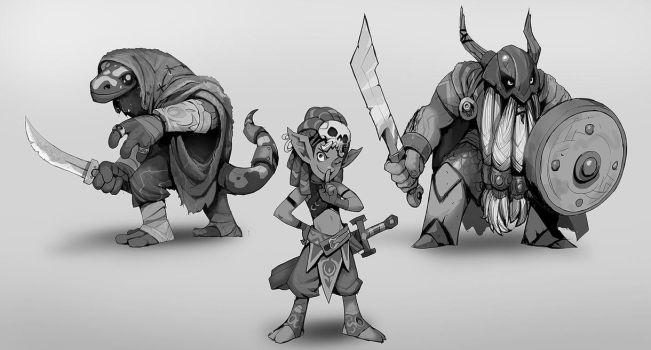 Tiny Dungeon Characters by SC4V3NG3R