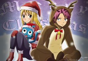 Nalu and Happy: Merry Xmas by Liz-050