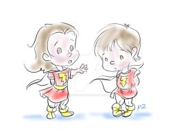 Young Mary Marvel Roughs by adventuresofp2