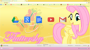 Fluttershy Chrome Theme - Version 2.1.1 by XxZomBloxxorxX