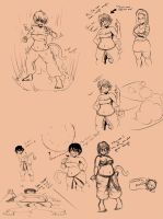 DBZ xenoverse sketches by DaemonKing