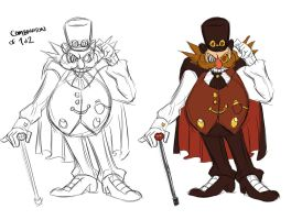 Concept Sketch Eggman Cowell final by Chauvels