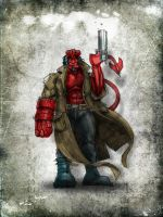 Hellboy by daawg