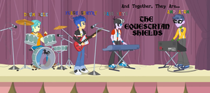 Flash Sentry's Band- THE EQUESTRIAN SHIELDS by Author-Bat-Pegasus