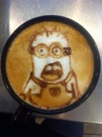 Minion Latte by Coffee-Katie