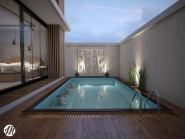 The Modern Pool House by MOCK-UP