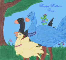 A Chocobo's Mother's Day by Ragnawing
