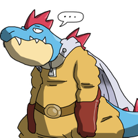 One Slash Gatr - Feraligatr as Saitama. by SparkusThunderbolt