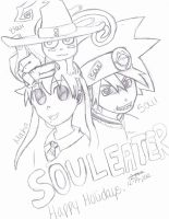 Happy Holidays- Soul Eater by ZzSoulEaterfan