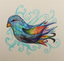 Rainbow Bird by DragonEye357