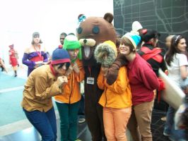 Pedobear goes to South Park by RedVelvetCosplay