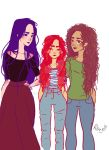 Isabelle,Clary and Maia by flaflame
