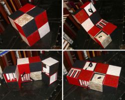 Harlequin Boxes of Books by msjbass
