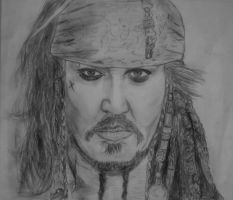 Captain jack Sparrow by nilesh10494
