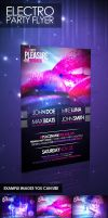 Electro Party Flyer by lickmystyle