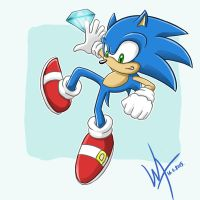 Sonic DX Sonic by WanderingArtists