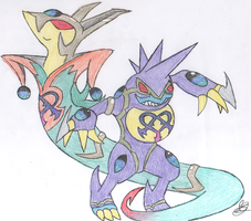 x2 Team- Serperior''Toxicroak by Juxshoa