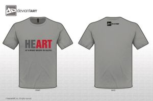 HEART T- Shirt by sonic2309