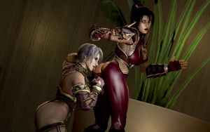 Ivy On To Taki's Butt by Rastifan