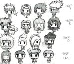 Naruto Chibis. by HeavenlyWitchx