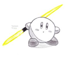 Lightsaber Kirby by DrChrisman