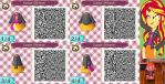 Animal Crossing: New Leaf QR Code - Sunset Shimmer by MysteryMoonbeam