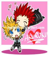 akuroku: chibi kiss by jurieduty
