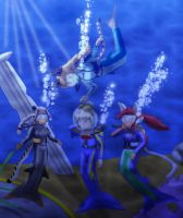 Request - meeting of scuba mermaids by Suomipoika11