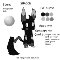 Shadow the Forgotten Soulchu by TailTehEeveelution
