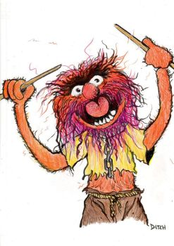 Animal from The Muppet Show by Ditch-scrawls